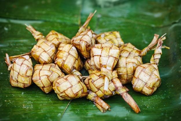 Ketupat - traditional eastern dish