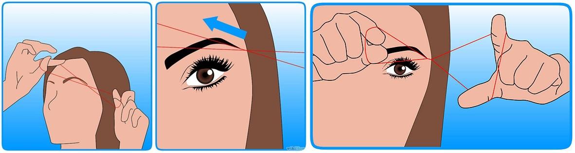 Bagaimana Eyebrows Threading Dilakukan 3-horz