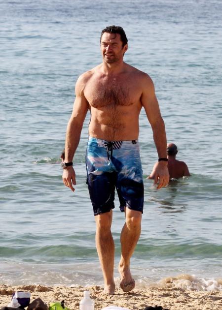 Hugh Jackman Swims At Bondi Beach