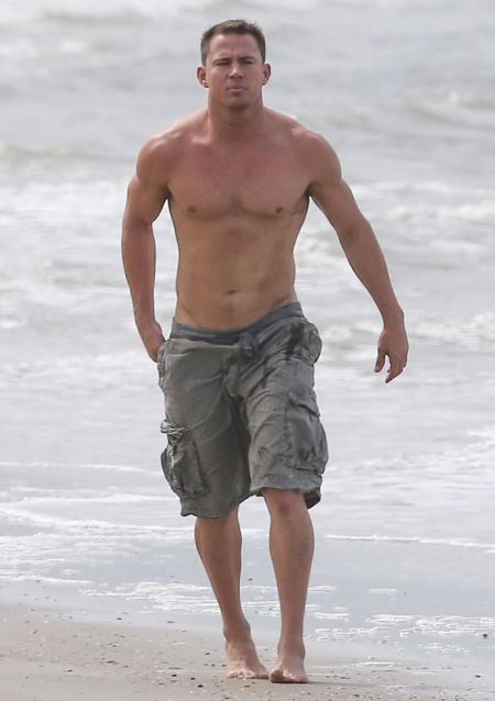 Exclusive... Channing Tatum & Family Enjoying The Beach In Georgia - NO WEB