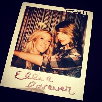 Elie Goulding & Taylor Swift2