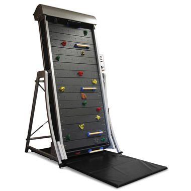 climbing wall treadmill hammacher.com