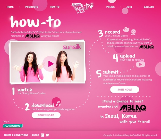 Sunsilk. Sweet Trip. How to join