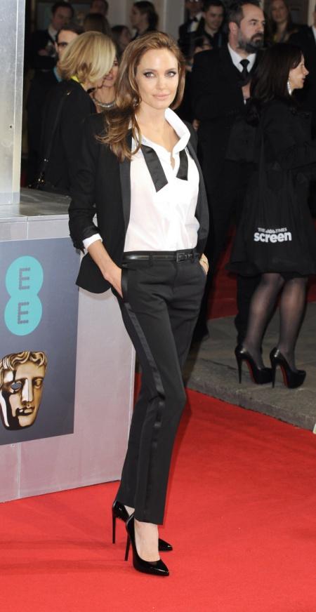 Photo Must Be Credited ©Jeff Spicer/Alpha Press 078243 16/02/2014 Angelina Jolie EE BAFTA British Academy Film Awards 2014 Royal Opera House London