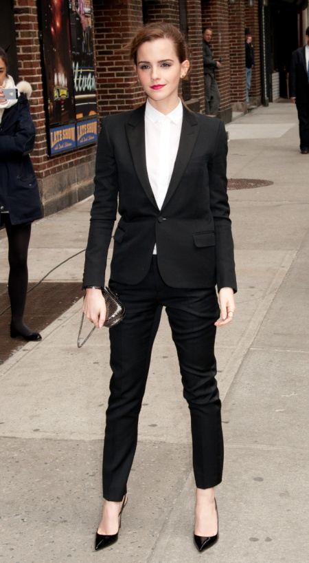 New York, NY -3/25/2014 - Emma Watson Tapes Late Show with David Letterman Show -PICTURED: Emma Watson -PHOTO by: Marcus Owen/startraksphoto.com -MAYv_139312.JPG Startraks Photo New York, NY For licensing please call 212-414-9464 or email sales@startraksphoto.com