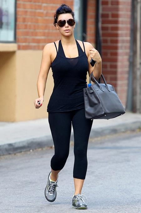 Kim Kardashian goes to the gym in Studio City