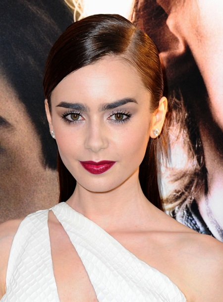 Aug. 12, 2013 - Los Angeles, California, U.S. - Lily Collins attending the Los Angeles Premiere of The Mortal Instruments: City Of Bones held at the Arclight Cinerama Dome in Hollywood, California on August 12, 2013. 2013(Credit: © Globe-ZUMA