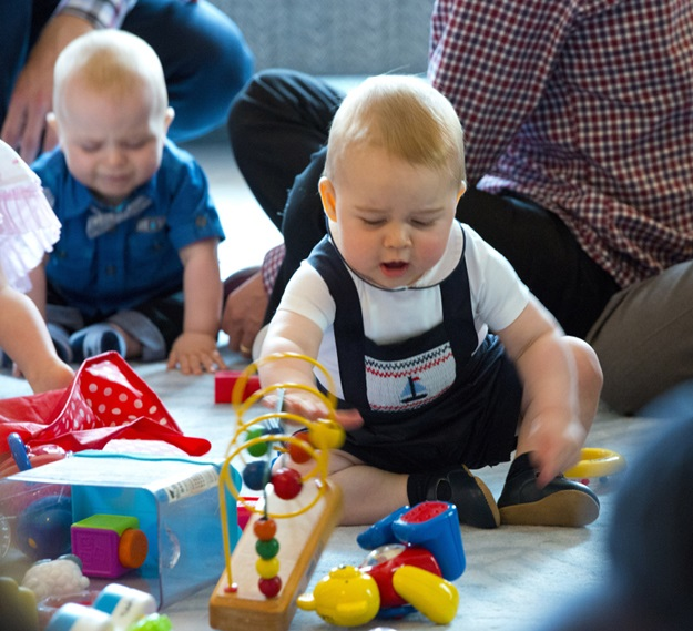April 9, 2014: Catherine, Duchess of Cambridge and Prince George of Cambridge attend a Plunket Play Group at Government House in Wellington, New Zealand. Ref.: infuklo-108|sp|
