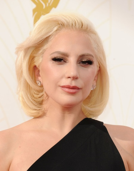 Sept. 20, 2015 - Los Angeles, California, U.S. - LADY GAGA attending the 67th Annual Primetime Emmy Awards at the Microsoft Theater. (Credit: © Globe-ZUMA