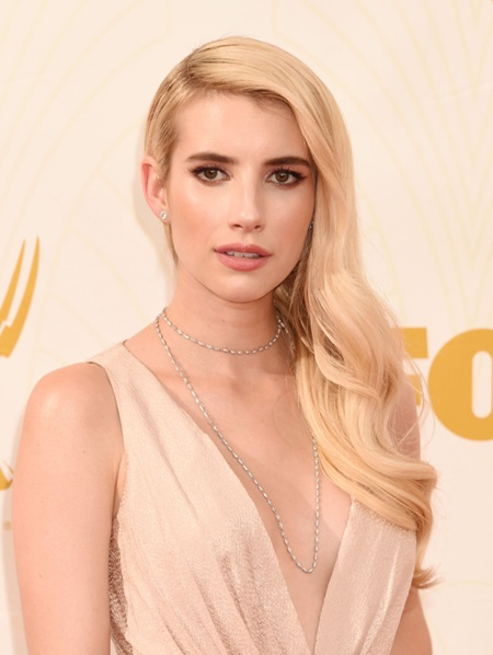 LOS ANGELES, CA - SEPTEMBER 20: Actress Emma Roberts attends the 67th Annual Primetime Emmy Awards at Microsoft Theater on September 20, 2015 in Los Angeles, California. Credit: Mayer/face to face - No Rights for USA, Canada and France -