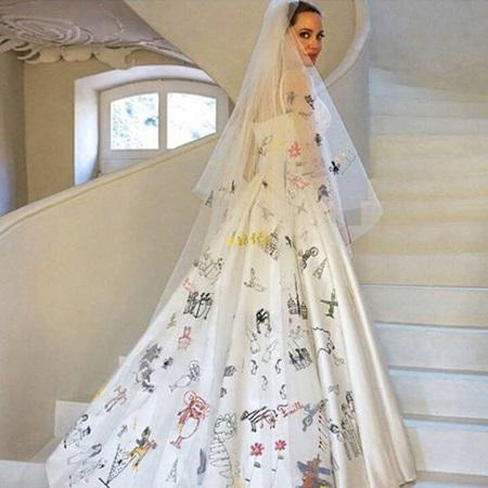 Angelina Jolie In Her Versace Wedding Dress