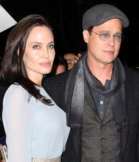 Pictured: Angelina Jolie, Brad Pitt Mandatory Credit © DDNY/Broadimage Angelina Jolie and Brad Pitt arrive to City Cinemas in New York City 11/3/15, New York, New York, United States of America Broadimage Newswire Los Angeles 1+ (310) 301-1027 New York 1+ (646) 827-9134 sales@broadimage.com http://www.broadimage.com