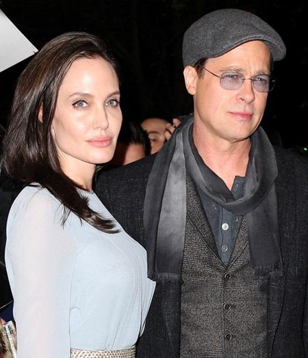 Pictured: Angelina Jolie, Brad Pitt Mandatory Credit © DDNY/Broadimage Angelina Jolie and Brad Pitt arrive to City Cinemas in New York City 11/3/15, New York, New York, United States of America Broadimage Newswire Los Angeles 1+ (310) 301-1027 New York 1+ (646) 827-9134 sales@broadimage.com http://www.broadimage.com