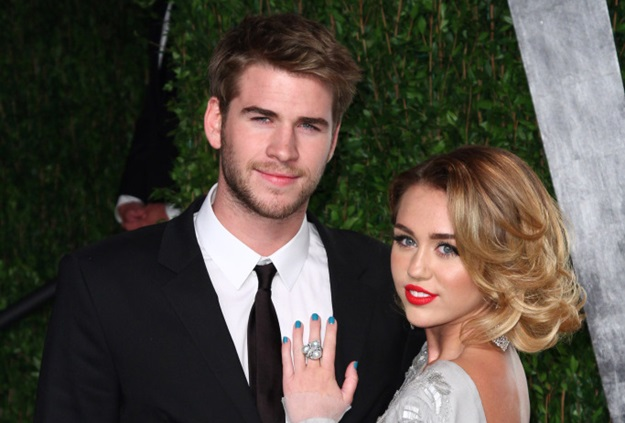 Miley Cyrus, Liam Hemsworth 2012 Vanity Fair Oscar Party at Sunset Tower Hotel - Arrivals West Hollywood. USA - 26.02.12 Credit: (Mandatory): WENN.com