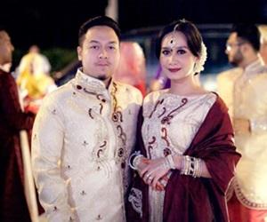 Gambar Sekitar Perkahwinan Marsha Milan dan suami