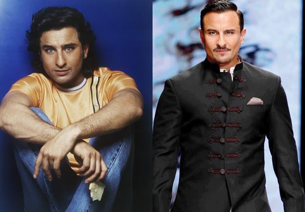 saif ali khan then and now