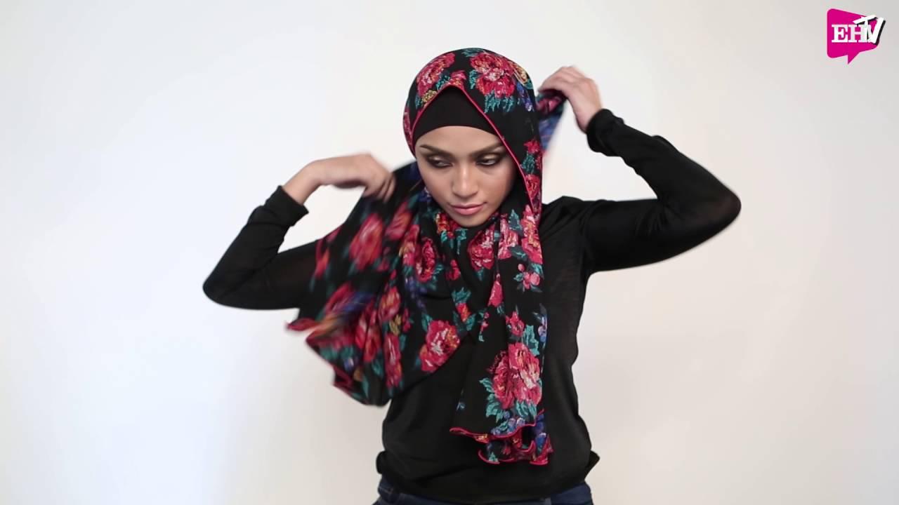 Tutorial Hijab : Benang Hijau X EH! (Cetakan Floral)