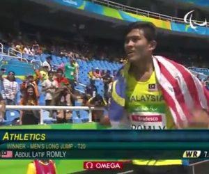 Satu Lagi Emas Paralimpik Hasil Lompatan Rekod Dunia Latif Romly