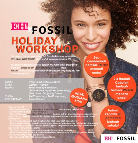 EH! x Fossil Holiday Workshop