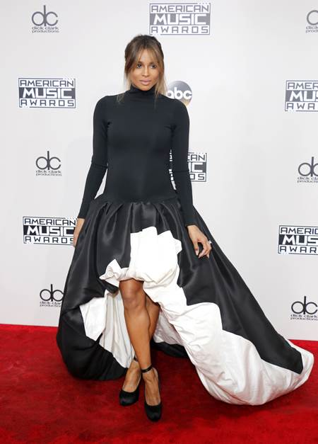 Ciara at the 2016 American Music Awards held at the Microsoft Theater in Los Angeles, USA on November 20, 2016.