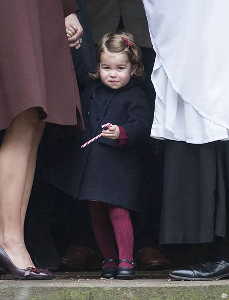 Mandatory Credit: Photo by Rupert Hartley/REX/Shutterstock (7665923n) Princess Charlotte Christmas Day church service, Englefield, UK - 25 Dec 2016 Prince Willam and Catherine Duchess of Cambridge take Prince George and Princess Charlotte to church on Christmas morning at Englefield, as they spend Christmas with the Middleton family.