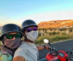 Pasangan Ini Kembara Ke Eropah Dengan Menunggang Motor