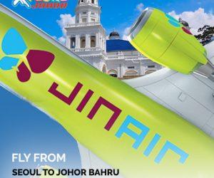 Kini Anda Boleh Terbang Terus Ke Korea Dari Johor Bahru
