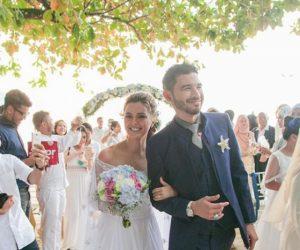 Che Puan Juliana Evans Rai Perkahwinan Bertemakan Beach Wedding