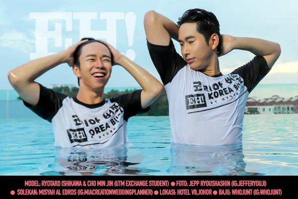 Bergaya Persis Bintang Running Man Dengan T-Shirt & Topi Eksklusif Korea Buzz