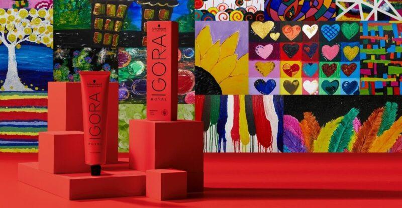 IGORA ROYAL berlatarbelakangkan karya seni komuniti autism terpilih dari NASOM.
